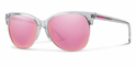 Smith Archive Rebel Sunglasses Crystal Carbonic Pink Mirror