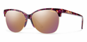 Smith Archive Rebel Sunglasses Flecked Mulberry Tortoise Carbonic Rose Gold Mirror