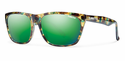 Smith Archive Tioga Sunglasses Flecked Green Tortoise Carbonic Green Sol-X Mirror