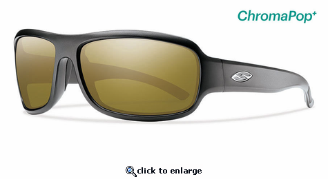 Smith Elite Drop Elite Sunglasses Matte Black Carbonic Elite Ballistic Polarized Bronze Mirror