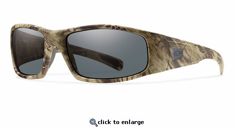 Smith Elite Hideout Elite Sunglasses Kryptek Highlander Carbonic Elite Ballistic Gray