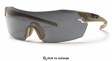 Smith Elite Pivlock V2 Elite Sunglasses Tan 499 Carbonic Elite Ballistic Clear/Gray/Ignitor