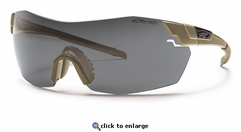 Smith Elite Pivlock V2 Max Elite Sunglasses Tan 499 Carbonic Elite Ballistic Clear/Gray/Ignitor