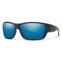 Smith Forge Sunglasses Matte Black Carbonic Polarized Blue Mirror