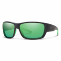 Smith Forge Sunglasses Matte Black Carbonic Polarized Green Mirror