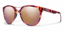 Smith Lifestyle Bridgetown Sunglasses Flecked Mulberry Tortoise Carbonic Rose Gold Mirror