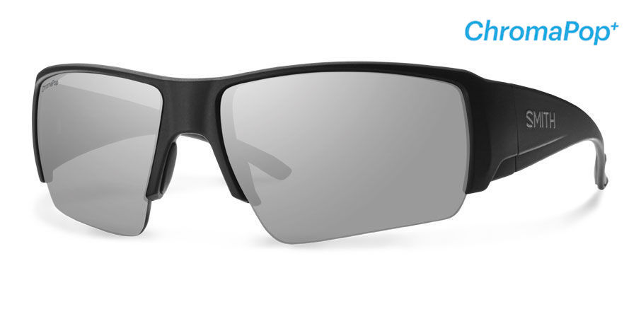 a683a40a18 Smith Lifestyle Captains Choice Sunglasses Matte Black Chromapop+ Polarized  Platinum - The Warming Store