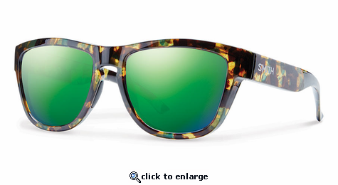 Smith Lifestyle Clark Sunglasses Flecked Green Tortoise Carbonic Green Sol-X Mirror