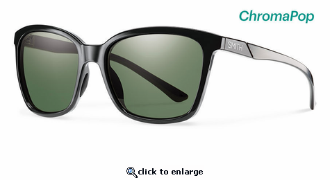 Smith Lifestyle Colette Sunglasses Black Chromapop Polarized Gray Green