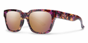 Smith Lifestyle Comstock Sunglasses Flecked Mulberry Tortoise Carbonic Rose Gold Mirror