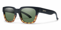 Smith Lifestyle Comstock Sunglasses Matte Black Fade Tortoise Carbonic Gray Green
