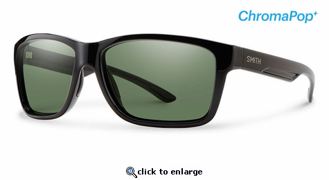 Smith Lifestyle Drake Sunglasses Black Chromapop+ Polarized Gray Green