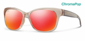 Smith Lifestyle Feature Sunglasses Desert Crystal Smoke Chromapop Sun Red Mirror