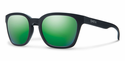 Smith Lifestyle Founder Slim Sunglasses Matte Black Carbonic Green Sol-X Mirror