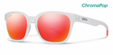 Smith Lifestyle Founder Slim Sunglasses Matte Crystal Red Chromapop Sun Red Mirror