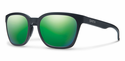 Smith Lifestyle Founder Sunglasses Matte Black Carbonic Green Sol-X Mirror