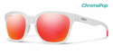 Smith Lifestyle Founder Sunglasses Matte Crystal Red Chromapop Sun Red Mirror