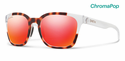Smith Lifestyle Founder Sunglasses Matte Tortoise Crystal Block Chromapop Sun Red Mirror