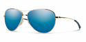 Smith Lifestyle Langley Sunglasses Gold Carbonic Blue Sol-X Mirror
