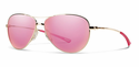 Smith Lifestyle Langley Sunglasses Gold Carbonic Pink Sol-X Mirror