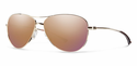 Smith Lifestyle Langley Sunglasses Gold Carbonic Rose Gold Mirror