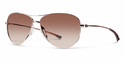 Smith Lifestyle Langley Sunglasses Rose Gold Carbonic Sienna Gradient