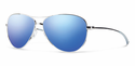 Smith Lifestyle Langley Sunglasses Silver Carbonic Blue Flash Mirror