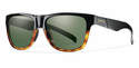 Smith Lifestyle Lowdown Slim Sunglasses Black Fade Tortoise Carbonic Gray Green