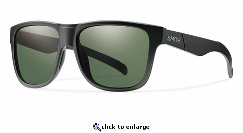 Smith Lifestyle Lowdown XL Sunglasses Matte Black Carbonic Polarized Gray Green