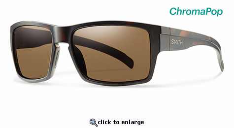 Smith Lifestyle Outlier XL Sunglasses Matte Tortoise Chromapop Polarized Brown