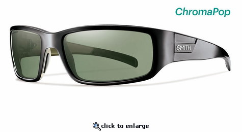 30c9ee71a08 Smith Lifestyle Prospect Sunglasses Black Chromapop Polarized Gray Green