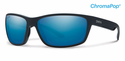 Smith Lifestyle Redmond Sunglasses Matte Black Chromapop+ Polarized Blue Mirror