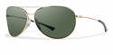 Smith Lifestyle Rockford Slim Sunglasses Gold Carbonic Polarized Gray Green