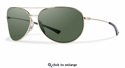 cd6bc47b15 Smith Lifestyle Rockford Slim Sunglasses Gold Carbonic Polarized Gray Green