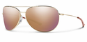 Smith Lifestyle Rockford Slim Sunglasses Gold Carbonic Rose Gold Mirror