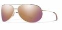 Smith Lifestyle Rockford Sunglasses Gold Carbonic Rose Gold Mirror
