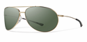 Smith Lifestyle Rockford Sunglasses Matte Gold Carbonic Polarized Gray Green