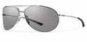 Smith Lifestyle Rockford Sunglasses Silver Carbonic Polarized Platinum