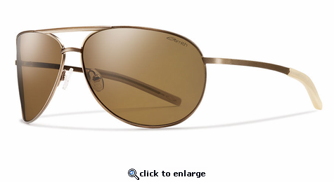 400e29aee99 Smith Lifestyle Serpico Slim Sunglasses Matte Desert Carbonic Polarlzed  Brown (DISCONTINUED)