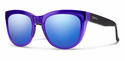 Smith Lifestyle Sidney Sunglasses Crystal Ultraviolet Carbonic Blue Flash Mirror