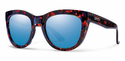 Smith Lifestyle Sidney Sunglasses Flecked Blue Tortoise Carbonic Blue Flash Mirror