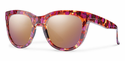Smith Lifestyle Sidney Sunglasses Flecked Mulberry Tortoise Carbonic Rose Gold Mirror