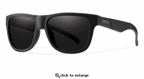Smith Optics Lifestyle Lowdown Slim Sunglasses Impossibly Black Carbonic Blackout (Discontinued)