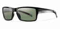 Smith Lifestyle Outlier Sunglasses Black Carbonic Polarized Gray Green