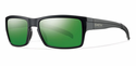 Smith Lifestyle Outlier Sunglasses Matte Black Carbonic Polarized Green Sol-X Mirror