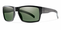 Smith Lifestyle Outlier XL Sunglasses Matte Black Carbonic Polarized Gray Green