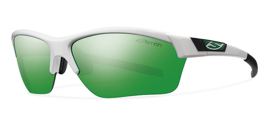 cb15fdfd17 Smith Performance Approach Max Sunglasses White Carbonic Green Sol-X Mirror  - The Warming Store
