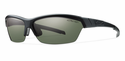 Smith Performance Approach Sunglasses Matte Black Carbonic Polarized Gray Green