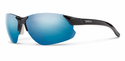 Smith Performance Parallel D Max Sunglasses Black White Carbonic Blue Sol-X Mirror
