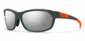 Smith Performance Pivlock Overdrive Sunglasses Charcoal Neon Orange Carbonic Super Platinum
